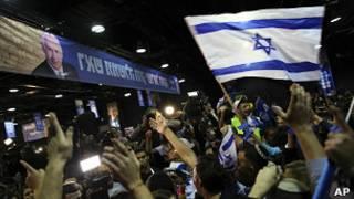 Seguidores de Benjamin Netanyahu