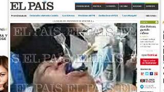 Portada de la edición digital de El País