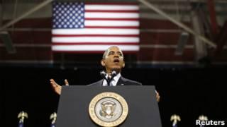 Обама выступает в Неваде
