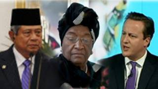 Susilo Bambang Yudhoyono, Ellen Johnson Sirleaf, David Cameron