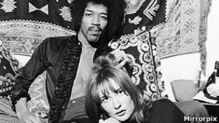 Jimi Hendrix y Kathy Etchingham