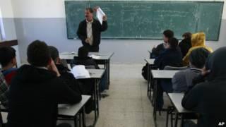 Sekolah di Ramallah, Tepi Barat.