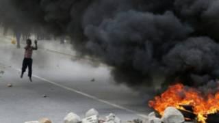 حريق وقع في اضراب عاملي المزارع