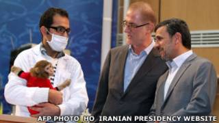 Ахмадинежад и обезьяна