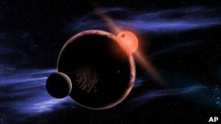 Экзопланета с двумя лунами