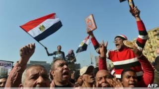 Manifestación en El Cairo