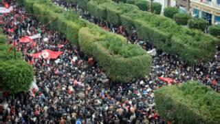 مظاهرة الإسلاميين في تونس
