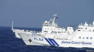 barcos chino y japonés