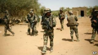 Военные в малийском городе Гао