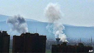 Bombas en Damasco