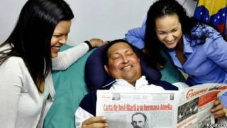 Chávez y sus hijas