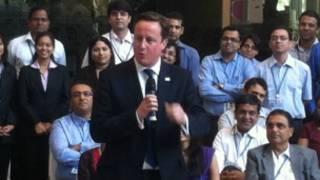 David Cameron a India