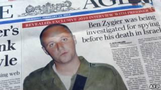 Сообщение в австралийской газете о Бене Зигере