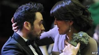 Juan Antonio Bayona y María Belón