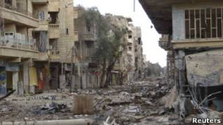 Разрушенные дома в Сирии