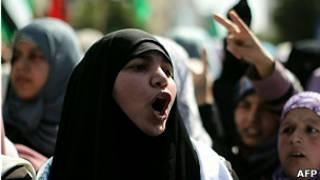 Manifestante palestina