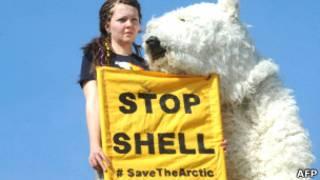 Protestas contra la exploración petrolera en el Ártico
