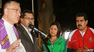 Вице-президент Венесуэлы, дочь Уго Чавеса и священослужители