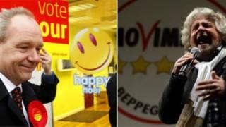 पिछले हफ्ते चुनावी दंगल में दो कॉमेडियन अपना हाथ आजमाने उतरे. इटली के चुनाव में अपना दमखम दिखाने लिए बेपे ग्रिलो सामने आए तो वहीं दूसरी ओर ब्रिटेन के इस्टले उपचुनाव में जॉन ओ फेरेल थे.