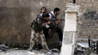 Phiến quân Syria đang chiến đấu