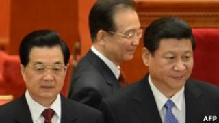 राष्ट्रपति हू जिंताओ, प्रधानमंत्री वेन जियाबओ और पार्टी प्रमुख जी जिनपिंग
