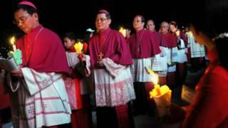 Một buổi lễ của Công giáo ở Việt Nam