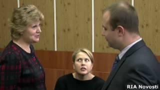 Евгения Васильева на суде, где было решено санкционировать ее домашний арест