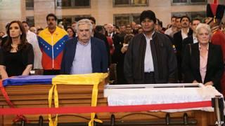 Cristina Fernández, José Mujica, Evo Morales