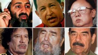القذافي وصدام وتشافيز وكيم جونغ إيل وكاسترو وبن لادن