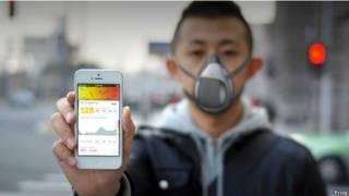 चीन, प्रदूषण, स्मार्ट मास्क