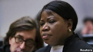 La procureure de la CPI, Fatou Bensouda, lors de l'audience de confirmation de charges de Laurent Gbagbo.