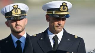 الجنديان ماسيميليانو لاتوري وسلفاتوري جيروني