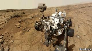 Animación del Curiosity en Marte