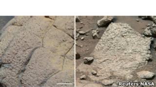 Два участка марсианской поверхности