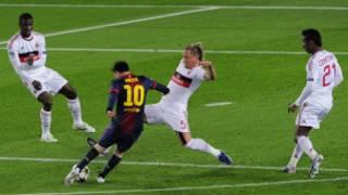 Barcelona, Lionel Messi'nin golleriyle Milan'ı Şampiyonlar Ligi'nde eledi