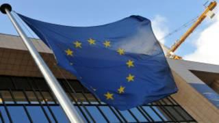 Cờ trước trụ sở của Ủy hội Châu Âu Liên hiệp Châu Âu