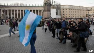 Аргентинский флаг в Ватикане