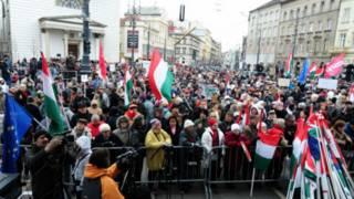 Cuộc biểu tình ở Hungary hôm 17/3