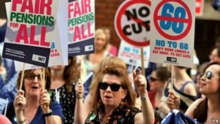 教師集會抗議