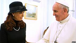 Kirchner e papa Francisco (AFP/Getty)