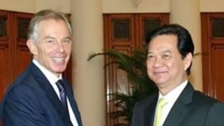 Hai ông Tony Blair và Nguyễn Tấn Dũng