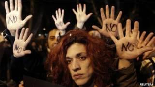 احتجاجات في قبرص