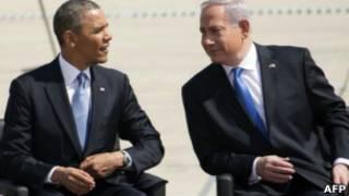 باراك أوباما وبنيامين نتنياهو