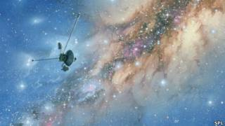 """""""Вояджер-1"""" на фоне Млечного пути"""