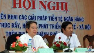 Ông Nguyễn Bá Thanh (phải)