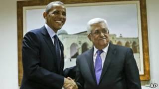 ABD Başkanı Barack Obama ve Filistin lideri Mahmud Abbas