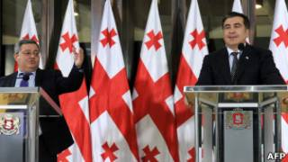 Михаил Саакашвили и Давид Усупашвили