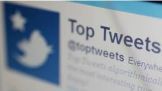 Tela de Twitter (BBC)