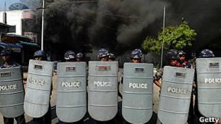 Policía birmana
