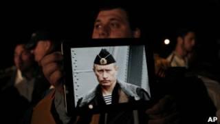 Российский демонстрант на Кипре